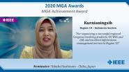 Kurnianingsih (Nia) - IEEE MGA Achievement Award