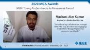 Machani Ajay Kumar - IEEE MGA Young Professionals Achievement Award