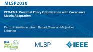 PPO-CMA: Proximal Policy Optimization with Covariance Matrix Adaptation