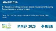 Bi-directional intra prediction based measurement coding for compressive sensing images