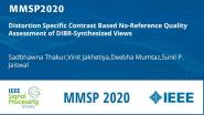 Distortion Specific Contrast Based No-Reference Quality Assessment of DIBR-Synthesized Views