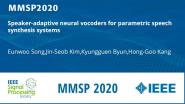 Speaker-adaptive neural vocoders for parametric speech synthesis systems