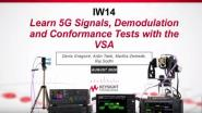 Learn 5G Signals, Demodulation and Conformance Tests with the VSA Video