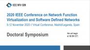 IEEE NFV-SDN 2020 Virtual Conference Doctoral Symposium