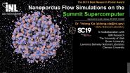Nanoporous Flow Simulations on the Summit Supercomputer