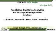 2020 PES GM 8/3 Panel Video: Predictive Big Data Analytics for Outage Management
