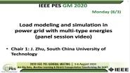 2020 PES GM 8/3 Panel Video: Load modeling and simulation in power grid with multi-type energies