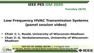 2020 PES GM 8/4 Panel Video: Low Frequency HVAC Transmission Systems