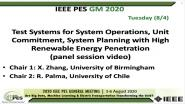 2020 PES GM 8/4 Panel Video: Test Systems for System Operations, Unit Commitment, System Planning with High Renewable Energy Penetration