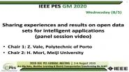 2020 PES GM 8/5 Panel Video: Sharing experiences and results on open data sets for intelligent applications