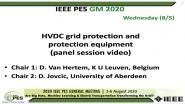 2020 PES GM 8/5 Panel Video: HVDC grid protection and protection equipment