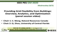 2020 PES GM 8/5 Panel Video: Providing Grid Flexibility from Buildings: Overview, Analytics, and Optimization
