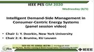 2020 PES GM 8/5 Panel Video: Intelligent Demand-Side Management in Consumer-Centric Energy Systems