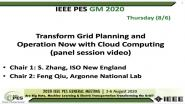 2020 PES GM 8/6 Panel Video: Transform Grid Planning and Operation Now with Cloud Computing