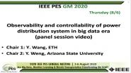 2020 PES GM 8/6 Panel Video: Observability and controllability of power distribution system in big data era