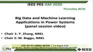 2020 PES GM 8/6 Panel Video: Big Data and Machine Learning Applications in Power Systems