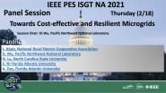 2021 PES ISGT NA 2/18 Panel Video: Cost-Effective and Resilient Microgrids Powered by PV and Mobile Energy Storage Systems