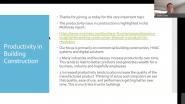 PRODUCTIVITY IN BUILDING CONSTRUCTION: BIM, ENERGY, & SOFTWARE