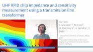 UHF RFID Chip Impedance and Sensativity Measurement Using a Transmission Line Transformer