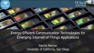 A3 Energy-Efficient Communication Technologies for Emerging Internet of Things Application