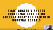 B3 Right Angled V Shaped Conformal Dual Patch Antenna Array for Rain RFID Doorway Portals