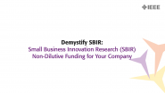 Demystifying - United States Small Business Innovation Research (SBIR) | Non-Dilutive Funding for Your Company