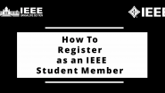 Registration Process to Become a Student Member