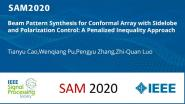 Beam Pattern Synthesis for Conformal Array with Sidelobe and Polarization Control: A Penalized Inequality Approach