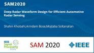 Deep Radar Waveform Design for Efficient Automotive Radar Sensing