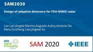 Design of adaptive detectors for FDA-MIMO radar