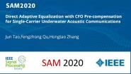 Direct Adaptive Equalization with CFO Pre-compensation for Single-Carrier Underwater Acoustic Communications