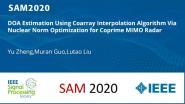 DOA Estimation Using Coarray Interpolation Algorithm Via Nuclear Norm Optimization for Coprime MIMO Radar