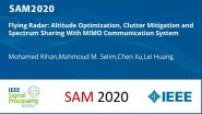 Flying Radar: Altitude Optimization, Clutter Mitigation and Spectrum Sharing With MIMO Communication System