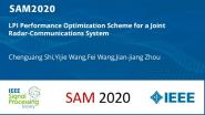 LPI Performance Optimization Scheme for a Joint Radar-Communications System
