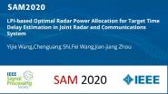 LPI-based Optimal Radar Power Allocation for Target Time Delay Estimation in Joint Radar and Communications System