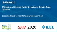 Mitigation of Ground Clutter in Airborne Bistatic Radar Systems