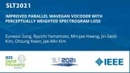 Improved Parallel Wavegan Vocoder With Perceptually Weighted Spectrogram Loss