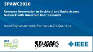 Resource Reservation in Backhaul and Radio Access Network with Uncertain User Demands