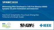 Minimizing Pilot Overhead in Cell-Free Massive MIMO Systems via Joint Estimation and Detection