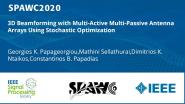 3D Beamforming with Multi-Active Multi-Passive Antenna Arrays Using Stochastic Optimization