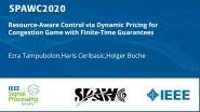 Resource-Aware Control via Dynamic Pricing for Congestion Game with Finite-Time Guarantees