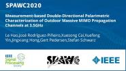 Measurement-based Double-Directional Polarimetric Characterization of Outdoor Massive MIMO Propagation Channels at 3.5GHz