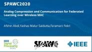 Analog Compression and Communication for Federated Learning over Wireless MAC