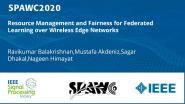 Resource Management and Fairness for Federated Learning over Wireless Edge Networks