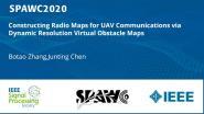 Constructing Radio Maps for UAV Communications via Dynamic Resolution Virtual Obstacle Maps