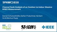 Channel Rank Analysis of an Outdoor-to-Indoor Massive MIMO Measurement