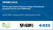 VAE for Joint Source-Channel Coding of Distributed Gaussian Sources over AWGN MAC