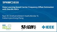 Deep Learning-based Carrier Frequency Offset Estimation with One-Bit ADCs