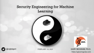 Security Engineering for Machine Learning - Dr. Gary McGraw - Wash/NoVA Computer Society Chapter