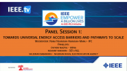 Panel Session 1: Towards Universal  Energy Access - Barriers and Pathways to  Scale - 2021 Virtual Energy Access Workshop and EBL-2